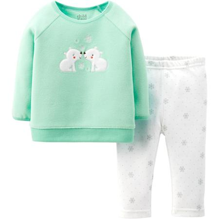 Buy Carter's Newborn Microfleece Top and Legging Set for only $8.74