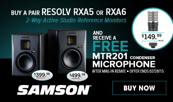 Free Microphone When You Buy Studio Reference Monitors + Free Shipping