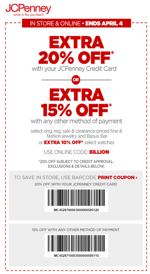 Printable: Extra 20% off Jewelry Orders W/ Store Credit Card
