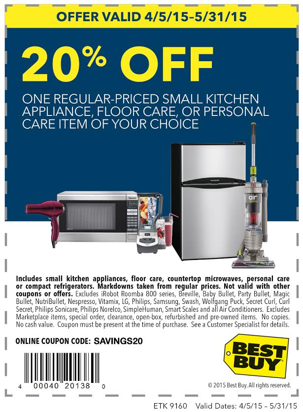 Printable: 20% off Regular-Priced Small Appliance