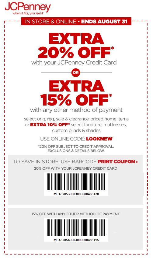 Printable: Extra 15% off Home Items Orders