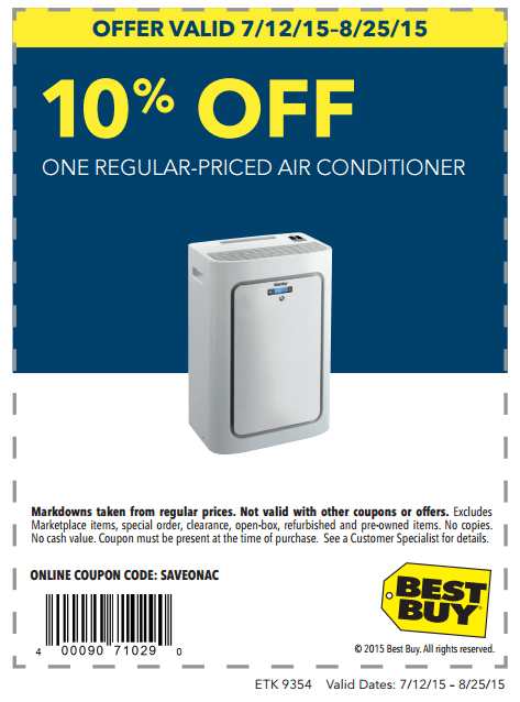 In-Store: 10% off Regular-Priced Air Conditioner