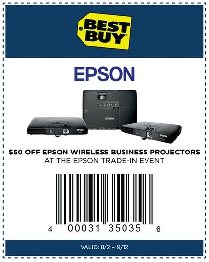 Printable: $50 off Epson Wireless Business Projectors