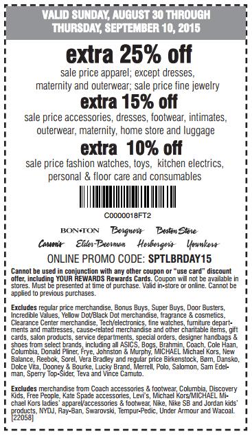Printable: Extra 25% off Sale Women, Men & Kid's Apparel & Jewelry