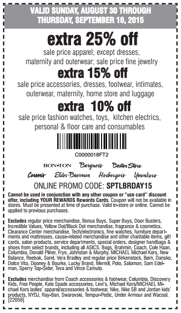 Printable: Extra 15% off Sale Accessories, Apparel & More