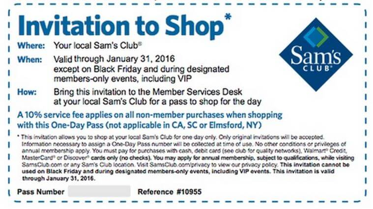In-Store: Free 1-Day Shopping Pass
