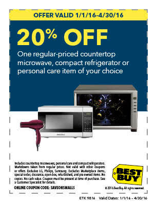 In-Store: 20% off 1 Regular Priced Microwave, Compact Refrigerator or Item of Your Choice