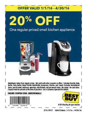 In-Store: 20% off 1 Regular-Priced Small Appliance