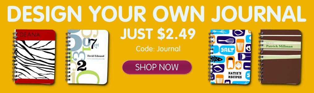 81% off Custom Journal