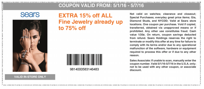 In-Store Only: Extra15% off Fine Jewelries