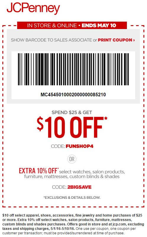 Printable: $10 off Mother's Day Sale Orders $25 or More