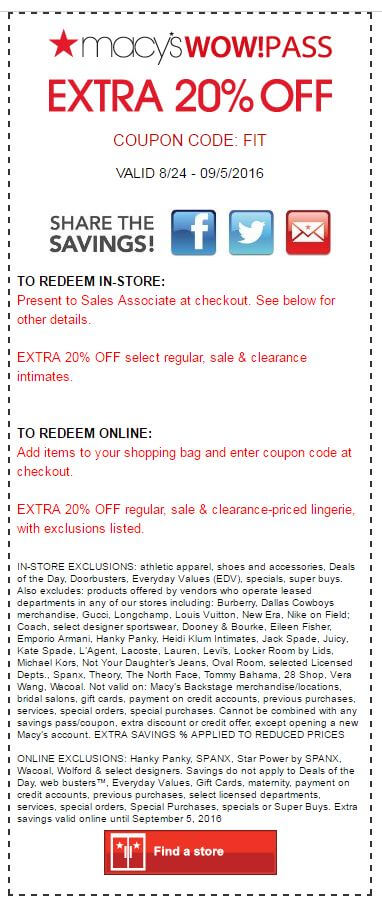 Wow Pass: Extra 20% off Lingerie Sale