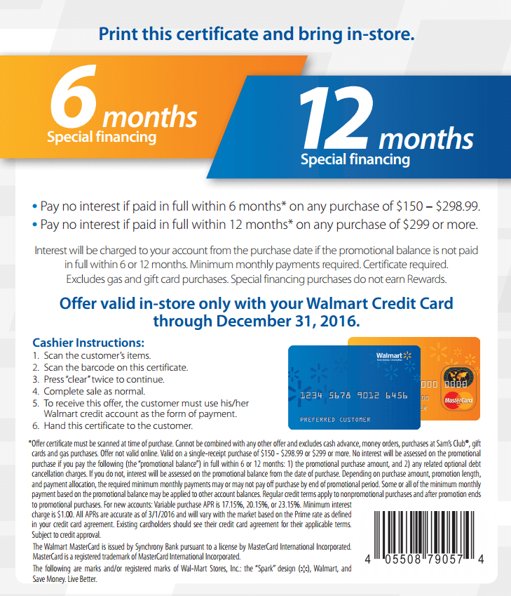 In-Store: Pay No Interest If Paid Full Within 6 Months on $150–$298.99