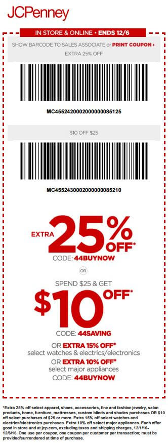 Printable: $10 off Most Orders $25 or More