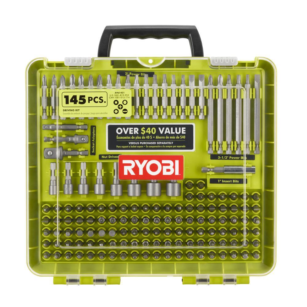 Ryobi Screwdriving Kit (145-Piece)