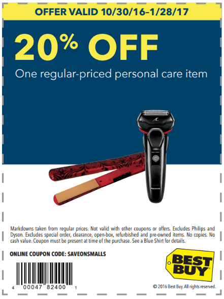 Printable - 20% off One Regular-Priced Personal Care Item