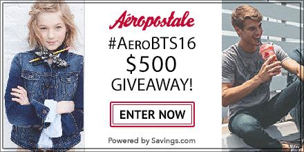 $500 Aeropostale Giveaway