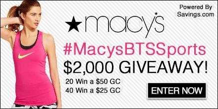 Macys $2,000 Giveaway