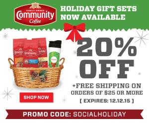 20% Off Community Coffee