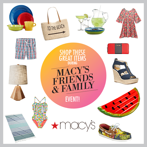 macy's friends and family 2016