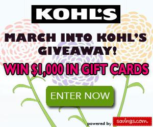March Into Kohl's Giveaway image