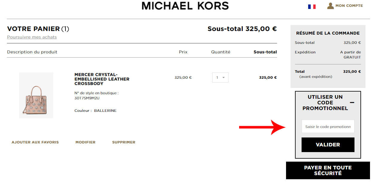 Look out for Michael Kors promo codes and special offers. If you sign up for the Michael Kors email list, you can save 10% on your next purchase while staying in the loop on upcoming sales. With deals of up to 50% of their full-price bags, accessories, footwear and more, be sure to check out the sale section on the Michael Kors website.